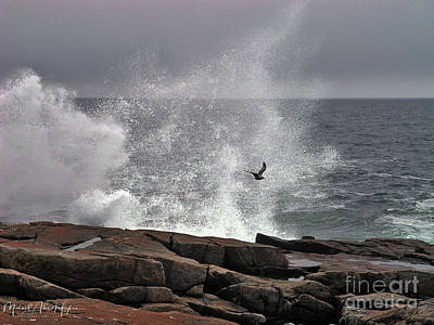 Photograph - Waves Crashing  by Michael Hughes