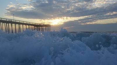 Photograph - Waves Crashing On The Shore by Robert Banach