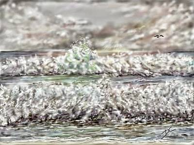 Digital Art - Waves by Darren Cannell