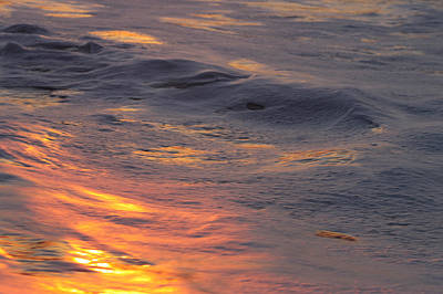 Photograph - Waves Dawn Reflections by Robert Banach