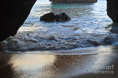 Waves From The Cave Print by Angelo DeVal