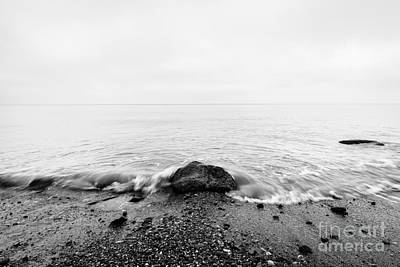 Sadness Photograph - Waves Hitting In Rock In The Center by Michal Bednarek