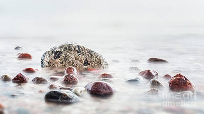 Photograph - Waves Hitting In Rocks On The Sea by Michal Bednarek