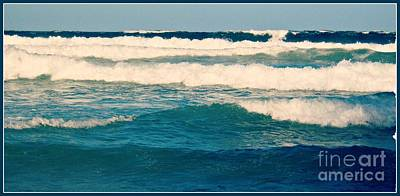 Photograph - Waves In Blue 1 by Leanne Seymour