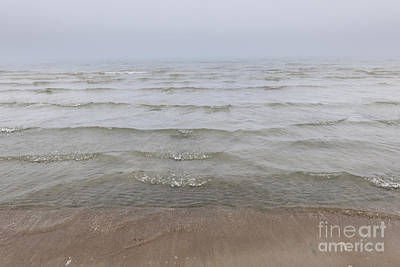 Beach Royalty-Free and Rights-Managed Images - Waves in fog by Elena Elisseeva
