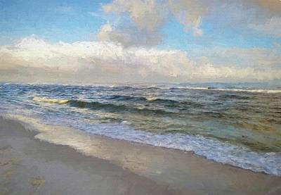 Photograph - Waves In South Walton by Cathy Findley