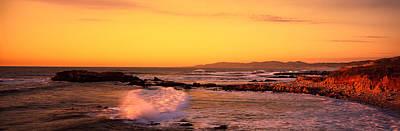 Waves In The Ocean, San Mateo County Art Print