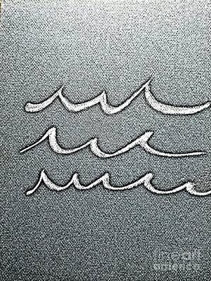Surfing Art Drawing - Waves Minimalist Art by Scott D Van Osdol