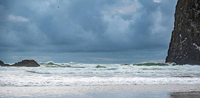 Photograph - Waves Near Haystack Rock by Anthony Doudt