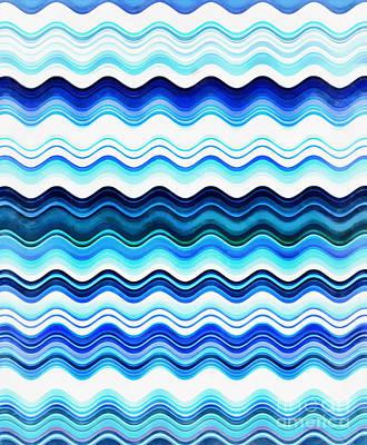 Digital Art - Waves Of Blue by Krissy Katsimbras