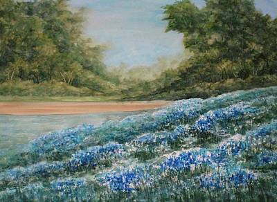 Painting - Waves Of Bluebonnets by Linda Bein