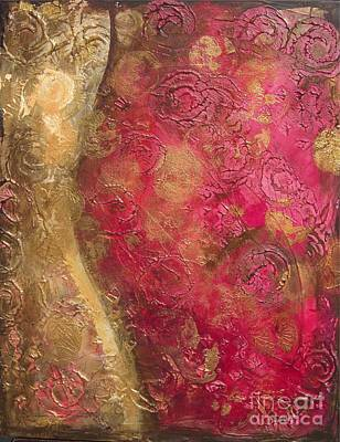 Painting - Waves Of Circles On Fuchsia by Kristen Abrahamson