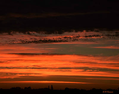 Photograph - Waves Of Clouds Over Sunrise by Kathy M Krause