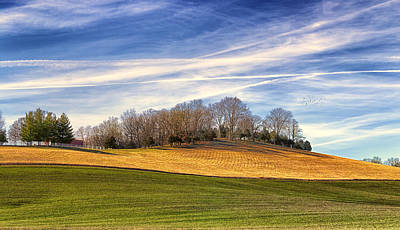 Wheat Field Sky Photograph - Waves Of Earth And Sky by Bill Tiepelman