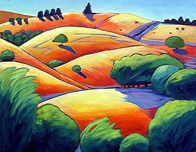 Waves Of Hills Print by Gary Coleman