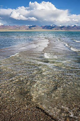 Photograph - Waves Of Namtso, Tibet, 2007 by Hitendra SINKAR