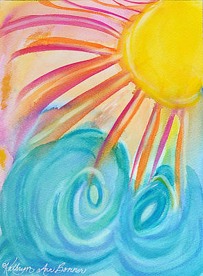 Splish Splash Painting - Waves Of Sun by Kathryn Bonner