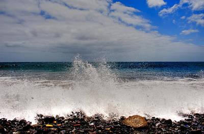 Photograph - Waves On Beach by Joseph Amaral