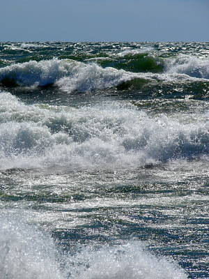 Photograph - Waves On Lake Michigan by Michelle Calkins