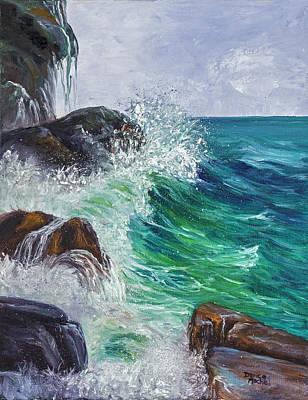 Painting - Waves On Maui by Darice Machel McGuire