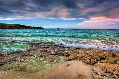 Caribbean Photograph - Waves On Shore by Nadia Sanowar