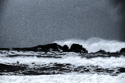 Raging Photograph - Waves On The Ocean by Jeff Swan