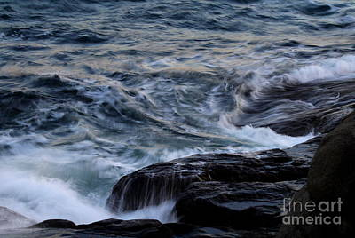 Photograph - Waves On The Rocks by Lennie Malvone