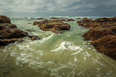 Photograph - Waves Over Boulders by Rick Strobaugh