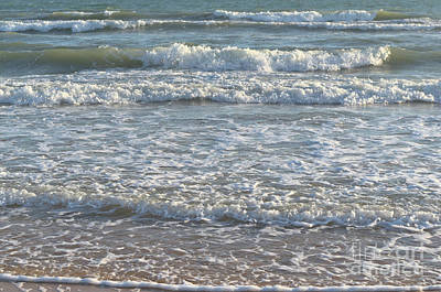 Sea Photograph - Waves Quietly Approaching by Angelo DeVal