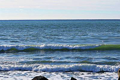 Photograph - Waves Rolling In by Barbara Griffin