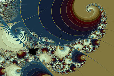 Waves Spirals And Mandelbrots No. 1 Art Print by Mark Eggleston