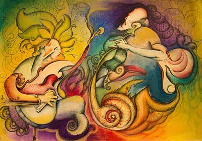 Colourfull Drawing - Waves by Tatiana Moroz