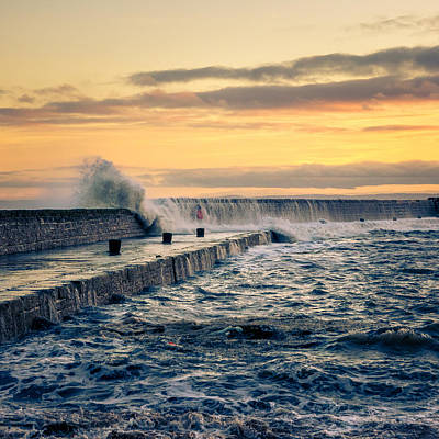 Anstruther Photograph - Waves Triptych I by Michael Mauderer