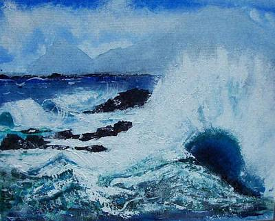 Waves Art Print by Valerie Wolf