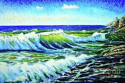 Painting - Waves by Viktor Lazarev