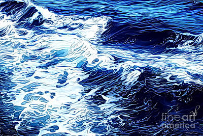 Digital Art - Waves by Zedi