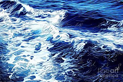 Digital Art - Waves by Zedi