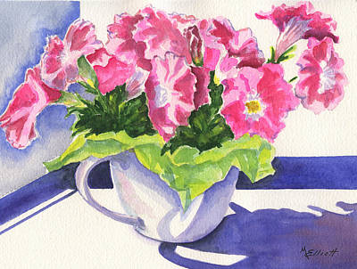 Petunia Painting - Waving Back To Jim by Marsha Elliott