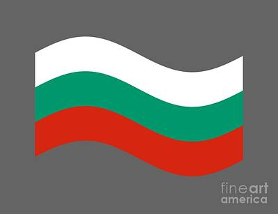 Waving Bulgaria Flag Art Print