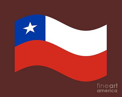 Waving Flag Mixed Media - Waving Chile Flag by Frederick Holiday