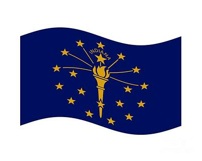 Waving Indiana Flag Original by Frederick Holiday