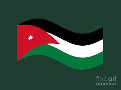 Waving Jordan Flag Original by Frederick Holiday