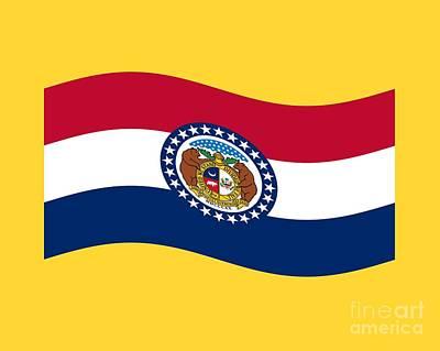 Waving Missouri Flag Original by Frederick Holiday