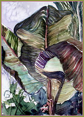 Nature Abstract Drawing - Waving Palms by Mindy Newman