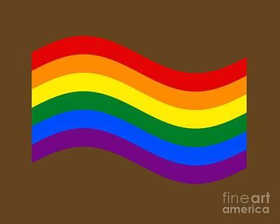 Waving Rainbow Flag Art Print by Frederick Holiday