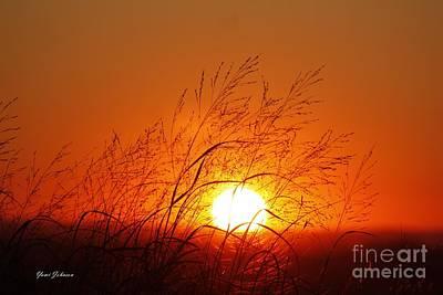 Waving Sun Art Print