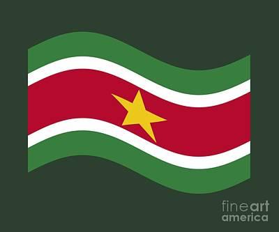 Waving Suriname Flag Art Print by Frederick Holiday