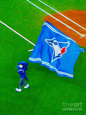 Photograph - Waving The Flag For The Home Team      The Toronto Blue Jays by Nina Silver