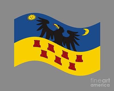 Waving Transylvania Historical Flag #2 Original