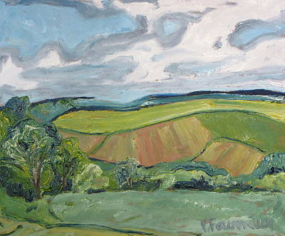 Eastern Townships Painting - Waving Valley by Francois Fournier
